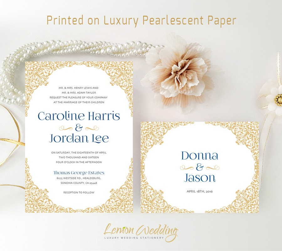 Personalized Wedding Invitations And RSVP Card Printed On