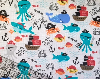 Fish Flannel, Fabric, By The Yard