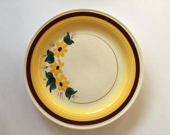 Brown Eyed Susan Salad Luncheon Plate 7 1/4 Inch 1940's 1950's Dinnerware Replacement Vernon Kilns Montecito