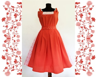 1950's Vintage Deadstock NOS Cotton Dress