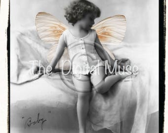 Baby Instant Download Vintage Photograph