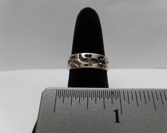 Vintage Sterling Silver Lizard Ring / FDM