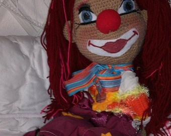 Crochet Clown doll