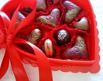 Valentine's or Mother's Day -  10 Artisan Dark or Milk Truffles