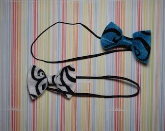 Felt bowtie style headbands - 0-3 months