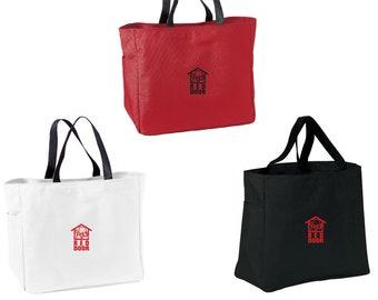 Embroidered Red Door Animal Shelter Totebag, Red Door Tote Bag, Red Door Tote, Red Door Bag, Red Door Animal Shelter