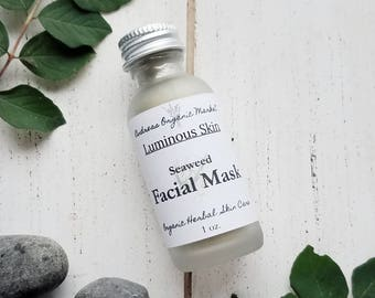 Organic Seaweed Facial Mask Sample, Trial Size Skin Care, Travel Size Face Mask, Organic Mineral Mask, Organic Skin Care Mini, Facial Sample