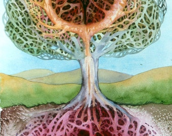 Tree of Life an original watercolor