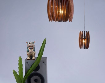 Free Shipping, A Pendant Lighting , Ceiling Lamp , Light Fixture , Pendant Lamp , Wood and Perspex Pendant Light , Home Decor