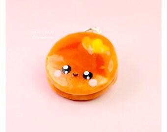 Pancake Kawaii Charm Polymer Clay Miniature Food Jewelry Kawaii Charms Pendant Necklace Handmade Fake Food Mini
