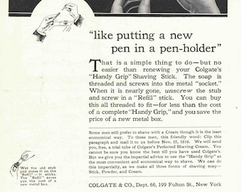 Colgate Shaving Creme ad from 1919 (September edition of National Geographic)