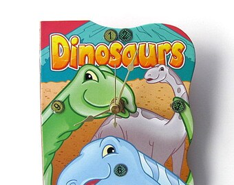 I Love Dinosaurs Book Clock FREE US Shipping