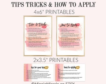 LipSense How To Apply, Lipsense Tips and Tricks, LipSense Watercolor, Senegence, Blush Pink Brush Strokes, 3.5x2 and 4x6 sizes DIGITAL