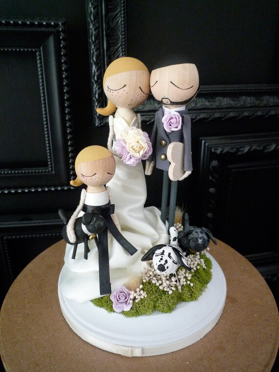 custom wedding cake toppers etsy items similar to family wedding cake topper with custom 13253