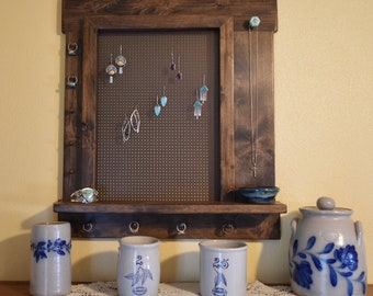 Jewelry Display // Earring Display // Jewelry Organizer // Jewelry Wall Rack // Jewelry Hanger // Earring Hanger