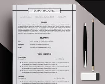 CV template Cover Letter instant download  Resume template modern CV Professional Resume Modern Letter Size A4 Microsoft Word template