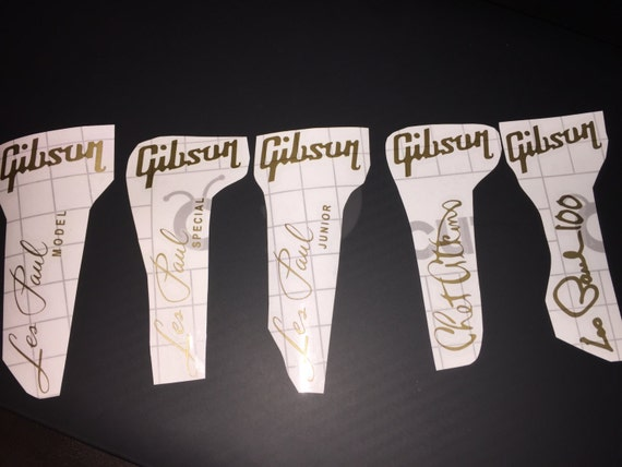 gibson les paul headstock decal logo all model l 5 special. Black Bedroom Furniture Sets. Home Design Ideas