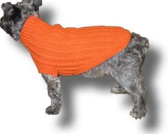 Mini-Cable Dog Sweater Pattern
