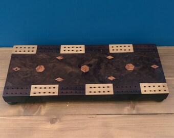 Victorian inlaid cribbage board c. 1870-1900