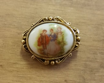 Small Porcelain Brooch