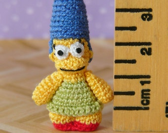 PDF PATTERN - Crochet Miniature Cartoon Woman - Amigurumi Tutorial