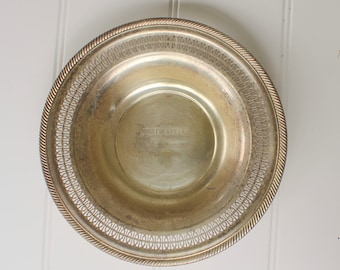 Vintage Silverplate Trophy Plate - Flower Show - Cobb County Fair - 1964