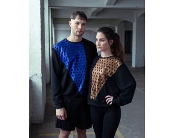KALEIDO-TOP - handmade sweatshirt jumper limied edition -
