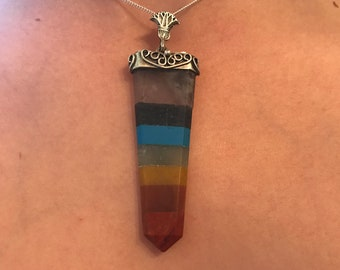 Sterling Silver Chakra Point Pendant (Free Shipping)