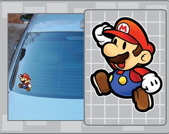 PAPER MARIO vinyl decal from Super Mario Bros. Sticker for almost anything!
