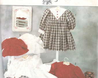 """Simplicity 7036 Oliver Goodin Heirloom Dress and 25"""" Doll Clothes Pattern Toddler Girl Vintage Sewing Size 2 3 4 5 6 X Breast  21 - 25 UNCUT"""