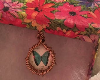 Fanciful Glass Cabochon Pendant Necklaces in your choice of styles (see all pics for options)