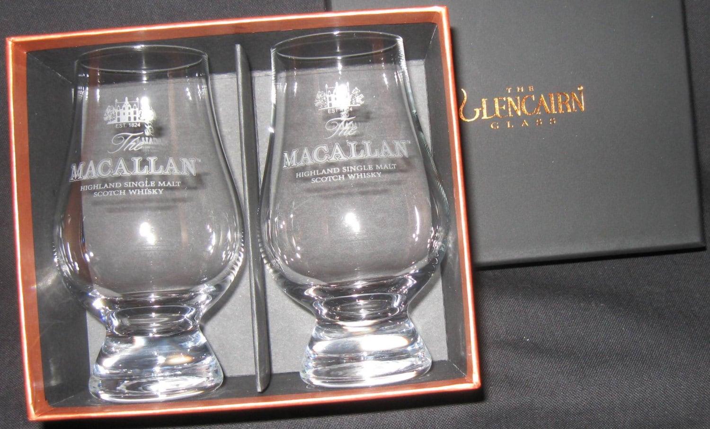 Macallan Scotch Whisky Glencairn Two Glass Boxed Set