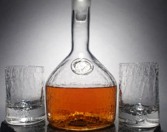 Hand Blown Whiskey Decanter