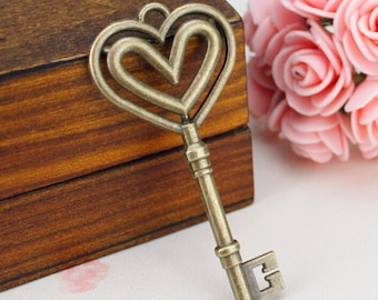 6 pcs Antique Silver Skeleton Key Charms 75x25mm CH0264,DIY Supplies 69*31mm -XS2515-HJ24