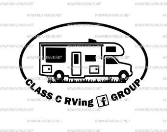 Class C Rving FB Group Decal, camping, class C, RV, Motorhome Decals by Howard Avenue