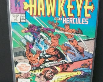 1988 Solo Avengers #11 Starring Hawkeye and Hercules -VF-NM Vintage Marvel Comic Book