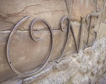 "Custom Metal Letters and Numbers  8"" Tall / Metal Address Numbers And Letters / House Number /Rustic decor"