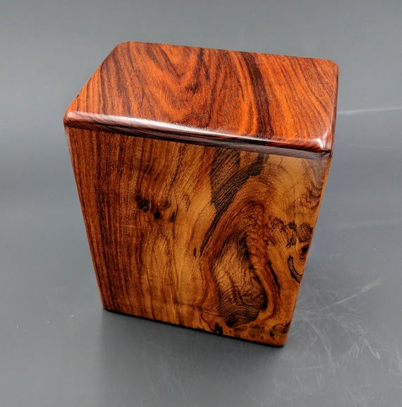 """Adult Large Rosewood Memorial Cremation Urn...Constant Supply On Hand 7"""" x 4.5"""" x 8.5""""  Solid Rosewood LR032018-B"""