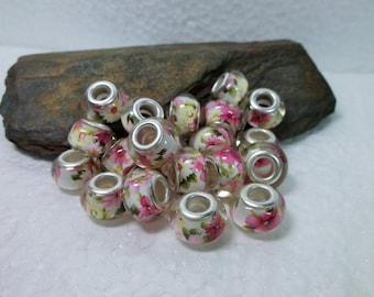 20 European Murano Lampwork Beads