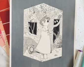 Over the Garden Wall Original Illustration