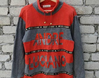 Rare !! Vintage Andre Luciano Spell Out Big Logo Hip Hop Swag