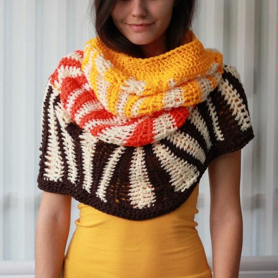 Crochet pattern, Patron crochet PDF – Kandy Cowl, hooded cowl ...