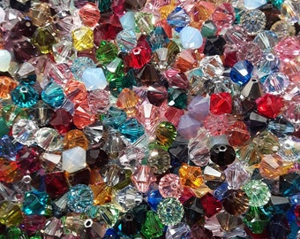 8mm Swarovski Crystal Faceted Bicones 72pc