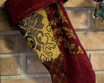 Large Handmade Christmas Stockings - Three different styles - Ornate, Aztec, Camo