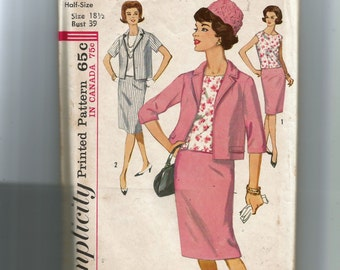 Simplicity Misses' and Women's Suit and Overblouse in Half Sizes Pattern 5320