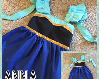 Frozen Anna Inspired Girls, Toddler, Baby, and Infant Play Dress