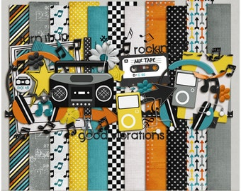 Turn It Up - Papers & Elements for Digital Scrapbooking