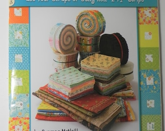 Strips & Scraps Use Your Scraps or Jelly Roll Suzanne McNeill Quilt Book