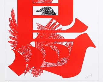 Many Birds Exhibition of Mike Goscinsky, Poster, c. 1975