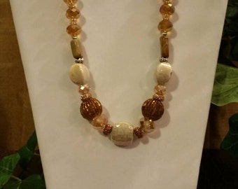Gorgeous Decorative Gold Beaded Necklace